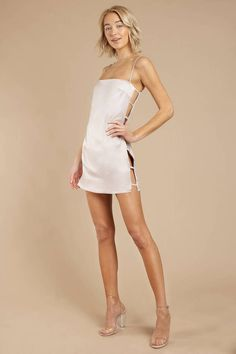 Not Yours Satin Shift Dress,homecoming Satin Dresses, Sexy Dresses, Short Dresses, Dresses Near Me, Club Dresses, Mode Outfits, Fashion Outfits, Shoulder Length Hair, Cute Casual Outfits