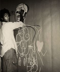 Jean-Michel Basquiat...Hatian born, grew up in Brooklyn. Started out as a graffiti artist.