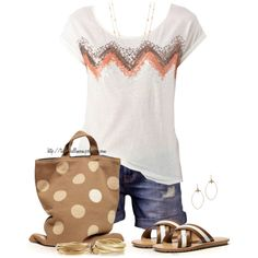 A fashion look from April 2014 featuring cut-off shorts, flat sandals and purse bag. Browse and shop related looks. Short Outfits, Cool Outfits, Summer Outfits, Summer Clothes, Love Fashion, Womens Fashion, Fashion Trends, Fall Fashion, Style Me