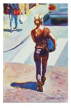 """""""Bag Lady."""" - Original Fine Art for Sale - © Graham Berry"""