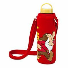 Disney Grumpy Water Bottle with Neoprene Cover | Disney StoreGrumpy Water Bottle with Neoprene Cover - A day at the diamond mine marches by more quickly with a keen canteen companion like Grumpy's aluminum water bottle with soft, snug neoprene cover; the environmentally friendly way to carry and quench your thirst!