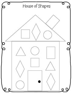 free printable house shapes worksheet i would use this at the beginning of 1st grade to assess. Black Bedroom Furniture Sets. Home Design Ideas
