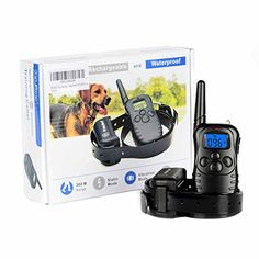 Dog Training Collar with Rechargeable Remote and Waterproof Receiver 4 in 1 Mode Beep Light Vibration Shock Safe for Small Medium Large Dogs Bonus Training eBook -- More info could be found at the image url.