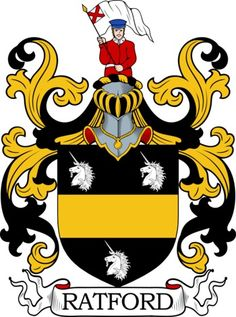 Ratford Family Crest and Coat of Arms