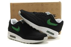 Nike Air Max 87 Mens Shoes Black Green By2wv