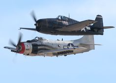 F6F Hellcat from Camarillo in California and an A-1 Skyraider