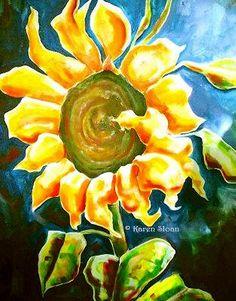 [#Sunflower 24x30 acrylic #painting on canvas - Karen Sloan #Art]  ...