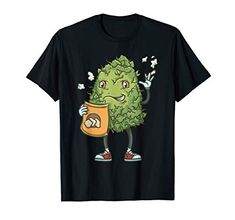 Waving Marijuana Bud, Funny Cannabis Bud, 420 Character Guy T-Shirt Weed Shop, Red Sneakers, Bud, Cannabis, Smoking, Chips, Blazer, Sleeve, Classic