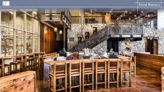 Stone Brewery. Design by Orness Design Group, INC. FCSI has members with Orness Design Group. #design #foodservice #restaurant #bar #cafe