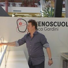 Luca Gardini all'Enoscuola per le degustazioni!