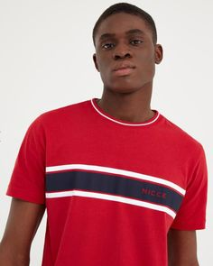 NICCE Mens Varsity T-shirt Red New mens NICCE summer 2019 collection Mens t-shirt crew neck short sleeves machine wash light weight cotton Red colour with nicce logo on chest Style Varsity Fake Tan, Red Color, Short Sleeves, Mens Tops, T Shirt, Style, Fashion, Supreme T Shirt, Swag