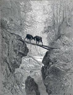 The Two Goats - Gustave Dore I find this image enchanting and wild. Good old Gustave.