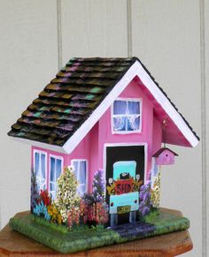 Outdoor Bird House Handcrafted and Hand by BirdhouseBlessings, $89.00