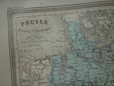 135 year old map of Prussia German empire  by DecorativePrints
