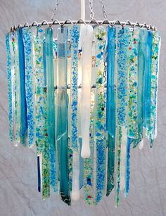 Titania Sky Blue White Small Double Chandelier – Glass Chandelier – Glass Lighting – Pendant Light – Light Fixture – Bohemian Decor - All For Decoration Glass Chandelier, Chandeliers, Glass Ceiling Lights, Crushed Glass, Glass Pendant Light, Pendant Lamp, Fused Glass Art, Stained Glass, Recycled Glass