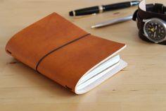 Ledereinband / Travel Journal für 2 Moleskine Cahier / Field Notes cognac | eBay
