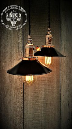 Industrial Polished Copper and Black Mini Shade by 8SIX9Design