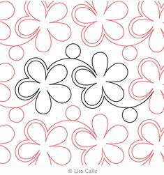 Digital Quilting Design Daisy and Dots by Lisa Calle. Longarm Quilting, Machine Quilting, Quilt Stitching, Digital Pattern, Quilting Designs, Quilt Patterns, Pattern Design, Baby Kids, Daisy