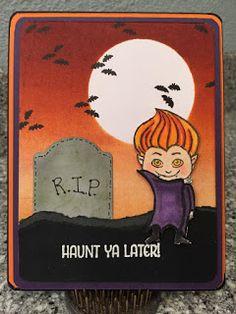 "IditaCard Design: ""Haunt Ya Later"" Halloween Card"