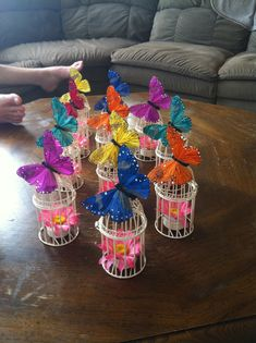 Wedding butterfly center pieces