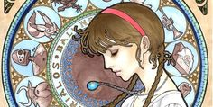 Love this #studioghiblilover Hayo Miyazaki characters get Art Nouveau'd » Lost At E Minor: For creative people