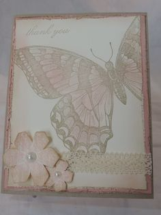 Stampin Up- Thank You handmade card