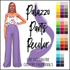 Palazzo Pants Recolor at SimsWorkshop » Sims 4 Updates