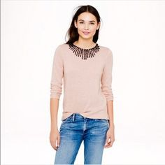 """J. CREW jeweled starburst sweater Dusty Quartz New, unworn condition, tags attached. Bust 38"""" (unstretched) / length 25"""" J. Crew Sweaters Crew & Scoop Necks"""
