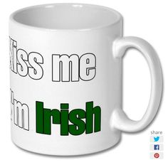 New product 'Kiss Me Im Irish Printed Mug' added to East Yorkshire Gifts! - £6.99