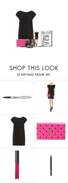 """""""Style Diary: Little Black Dress"""" by hollowpoint-smile ❤ liked on Polyvore featuring Sharpie, Yves Saint Laurent, Chanel, NARS Cosmetics and L'Oréal Paris"""