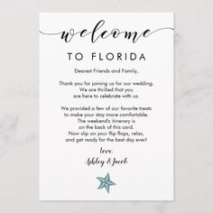 Shop Starfish Wedding Welcome Letter & Itinerary Card created by RevintagedArt. Wedding Welcome Letters, Wedding Welcome Bags, Wedding Bag, Hotel Wedding, Wedding Cards, Our Wedding, Wedding Weekend Itinerary, Hotel Welcome Bags, Wedding Details Card