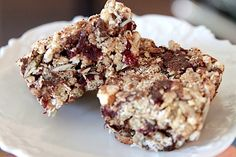 energy bars - aka bird-seed bars.  Combine a total of 3 cups raw nuts.  Add 1 cup oat bran, 4 cups brown rice cereal (aka rice crispies) and 2 1/2 cups rolled oats.  Now add 1 cup dried fruit.  Add 1/4 cup or so of sesame seeds. Or flaked coconut.  Now mix it together in a very large bowl.  Pour the whole 16 oz jar of brown rice syrup (2 cups) and 1/2 cup honey (or sugar)  into a heavy bottomed pan. I recently put in a heaping 1/2 cup of peanut butter in one batch of these and it totally…