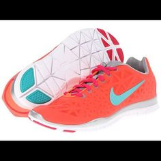 Orange Nike Free Tr Fit 3