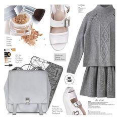 """Grey School"" by defivirdavp ❤ liked on Polyvore featuring mode, Jill Stuart, Casetify, Proenza Schouler, Christian Dior en Stila"