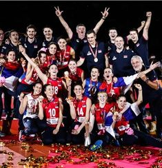 The 2018 Women's Volleyball world champions - Serbia Volleyball History, Women Volleyball, Champion, Wrestling, World, Balls, Sports, Historia, Lucha Libre