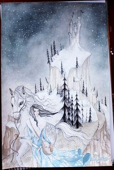 Snow White - Original Watercolour Fairy Tale Art Piece. $250.00, via Etsy.