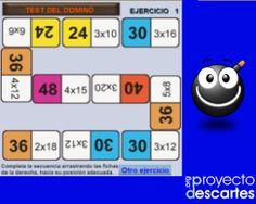 PROYECTO CANALS. Dominós de multiplicar y dividir. El hecho de trabajar las operaciones de multiplicar y dividir de manera lúdica, siguiendo las normas convencionales del juego del dominó, facilita la memorización de los productos sencillos y de las tablas de multiplicar, que siempre serán útiles en hacer otros cálculos mentales.