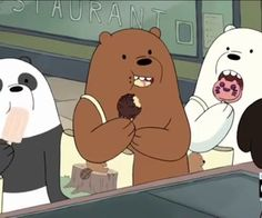 — we bare bears. We Bare Bears Wallpapers, Panda Wallpapers, Cute Wallpapers, 3 Bears, Cute Bears, Cartoon Icons, Cartoon Characters, Fictional Characters, Bear Pictures