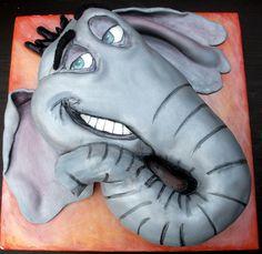 Horton Hears A Who Face Cake, via Flickr.