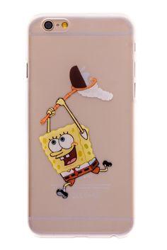 Spongebob Transparent Back Cover Case for iPhone 6 Plus