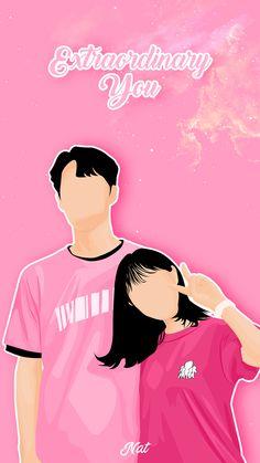 Cute Couple Drawings, Cute Couple Art, Cute Couples, Novel Wattpad, K Drama, Cute Couple Wallpaper, Anime Group, Couple Illustration, Kawaii Wallpaper