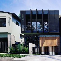 This screened balcony on our Lawson project links directly to a tv/rumpus room beyond. Not only is it a great facade element, it also extends the useability of those spaces. Facade Architecture, Residential Architecture, Contemporary Architecture, Contemporary Design, Facade Design, Exterior Design, Exterior Homes, Duplex Design, House Design
