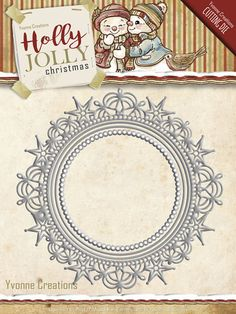 Card Deco - Die - Yvonne Creations - Holly Jolly - Nesting Frame