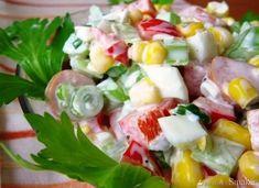 Sałatka z selerem naciowym Cobb Salad, Potato Salad, Potatoes, Yummy Food, Fresh, Meat, Chicken, Vegetables, Ethnic Recipes