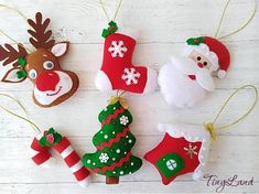 Set Christmas Ornaments Felt decorations Christmas Tree