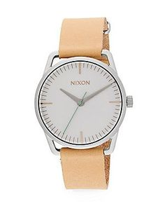 Nixon Mellor Stainless Steel Watch - Natural - Silver - Size No Size