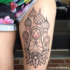 Meredith Little Sky Tattoo Artist : Nesting Doll tattoo