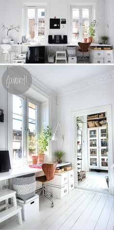 inspirerande kontor - Sök på Google Home Office Space, Office Workspace, Glam Room, Interior Decorating, Interior Design, Scandinavian Home, White Houses, Interior Inspiration, New Homes