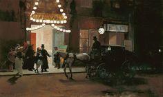Raimundo de Madrazo y Garreta - Leaving the Masked Ball [c.1885]