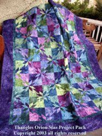 SAys it is a Orion Star Quilt Kit, but it looks like hunter's star to me. Star Quilt Patterns, Star Quilts, Easy Quilts, Quilt Blocks, Star Blocks, Amish Quilts, Sewing Patterns, Quilting Projects, Quilting Designs